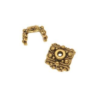 TierraCast 22K Gold Plated Pewter Raja Bead Pendant Caps 5.6mm (x 2)