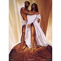 ''Power of Love'' by WAK - Kevin A. Williams African American Art Print (36 x 24 in.)