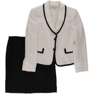 Tahari Womens Elena Colorblock 2PC Skirt Suit - 10