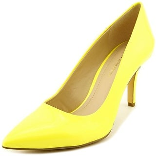 BCBGeneration Gaminkh-X Women Pointed Toe Synthetic Yellow Heels