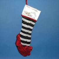 "22"" Wizard of Oz Wicked Witch of the East's Legs with Ruby Slippers Christmas Stocking"