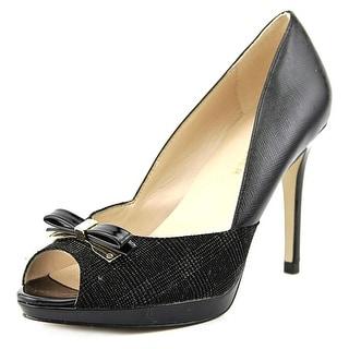 Marc Fisher Marsha Women Open-Toe Synthetic Black Heels