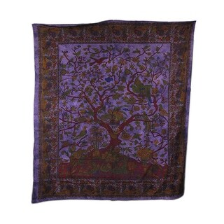 Giant Purple Tree of Life Tapestry 94 X 82 in.