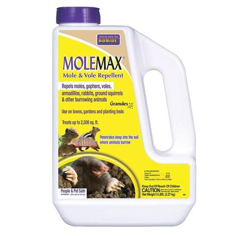 Bonide 691 Molemax Mole & Vole Repellent Granules & Bulb Protector, 5 lbs