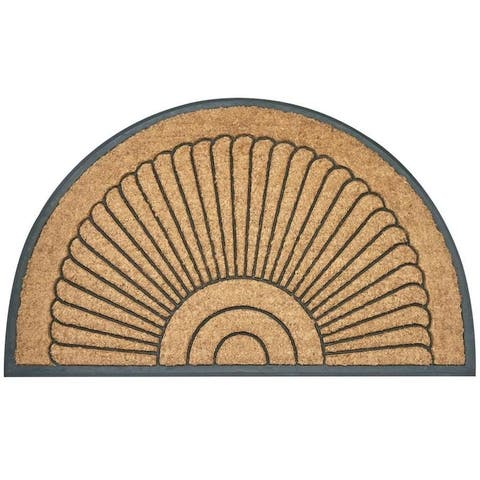 Envelor Arc Du Soleil Rubber Backing Coco Entrance Mat Welcome Doormat, 32 In. x 51 In.