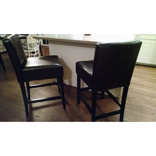 Lopez Brown Leather Counterstools Set Of 2 By