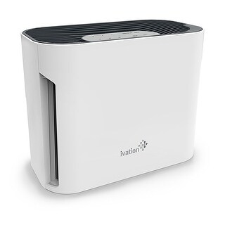 Ivation Compact Combination Air Purifier  3 in 1 Sanitizer & Deodorizer w/ Pre-Filter, Activated Carbon Filter & HEPA Filter