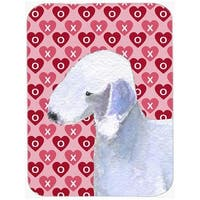 Bedlington Terrier Hearts Love & Valentines Day Glass Cutting