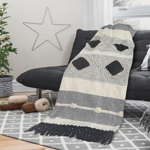 Multicolored Modern Geometric Throw Blanket