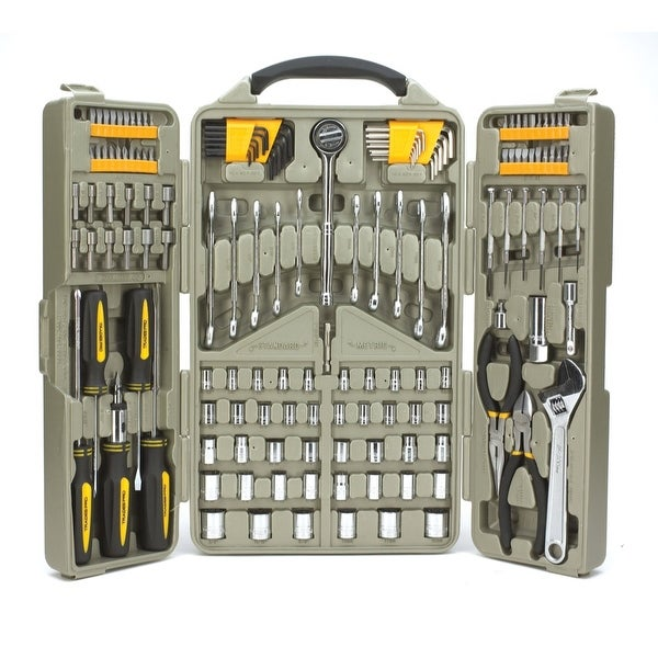 shop trades pro 153 piece auto repair mechanics tool set with tri fold case 835106 free. Black Bedroom Furniture Sets. Home Design Ideas