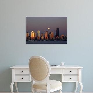Easy Art Prints Jamie & Judy Wild's 'Seattle skyline and Elliott Bay' Premium Canvas Art