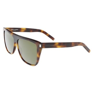 Saint Laurent SL 1-003 Havana Flat Top Rectangle Sunglasses - 59-13-140