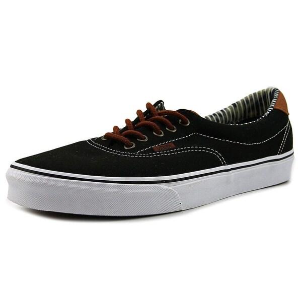 Shop Vans Era 59 Men Round Toe Canvas Black Skate Shoe - Free ... c878296f1b0b