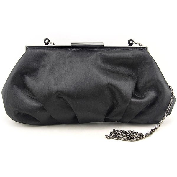 Lulu Townsend Linda Women Satin Clutch - Black