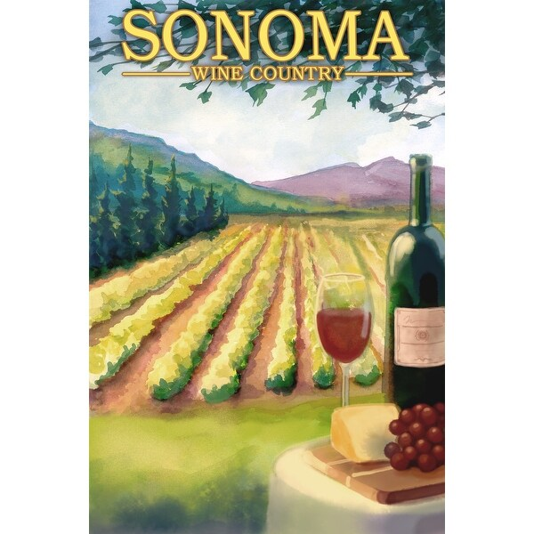 Sonoma County Wine Country - LP Artwork (100% Cotton Towel Absorbent)