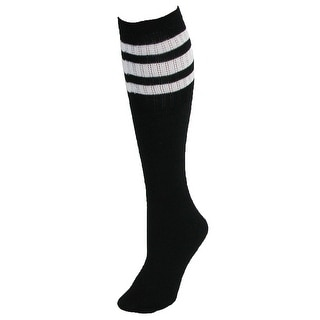 CTM® Men's Big and Tall Striped Tube Socks (4 Pair Pack)