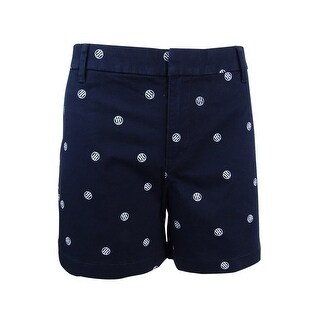 Tommy Hilfiger Women's Logo-Print Shorts - sky captain - 10