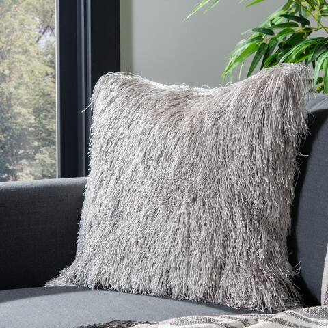 SAFAVIEH Retro Chic Indoor/ Outdoor 20-inch Shag Decorative Pillow