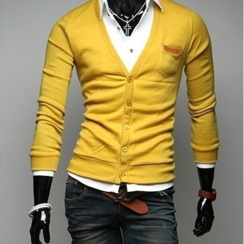 Men Knitted Pullover Men Slim Fit Plus Fashion Men's Sweater Thin Casual V-Neck Slim Fit Long Sleeves Knitted Men Sweaters
