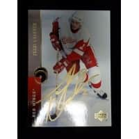 Signed Carkner Terry Detroit Red Wings 1995 Upper Deck Hockey Card autographed
