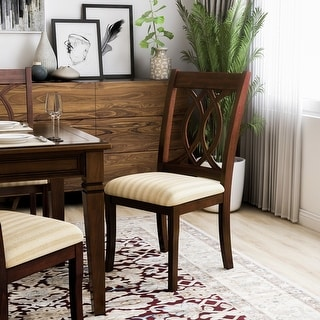 Link to Furniture of America Rustic Cherry Padded Dining Chairs (Set of 2) Similar Items in Dining Room & Bar Furniture
