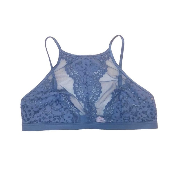 d264d4c2da Shop Victoria s Secret Unlined Floral Lace Bralette High Neck Bra ...