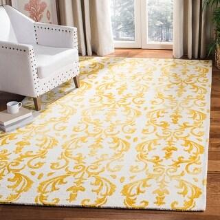 Link to Safavieh Handmade Dip Dye Sherilyn Watercolor Vintage Boho Wool Rug Similar Items in Transitional Rugs