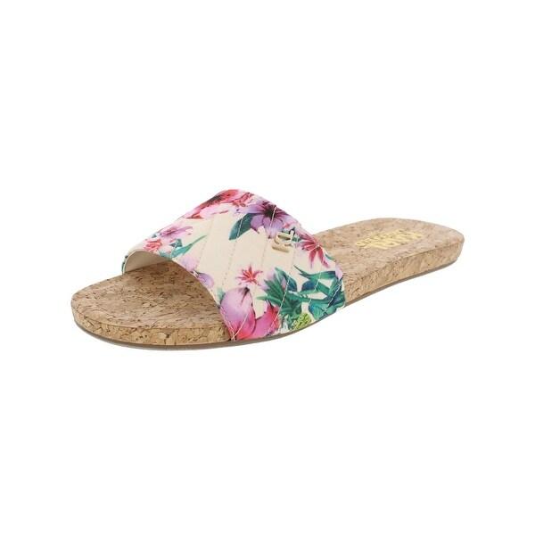 Karl Lagerfeld Paris Womens Lobau Slide Sandals Open Toe Signature