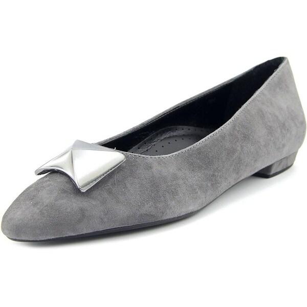 Vaneli Gaenor Women Pointed Toe Suede Flats