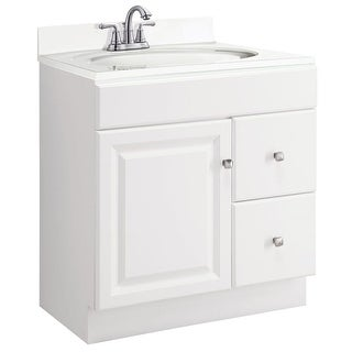 "Design House 545079 30"" Freestanding Single Vanity Cabinet Only - White"