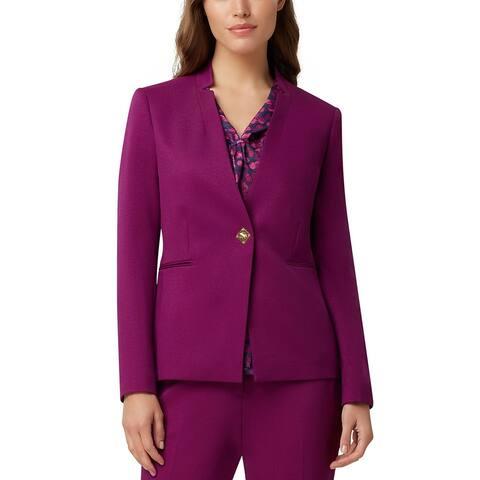 Tahari Asl Women's Turnlock-Closure Blazer Purple Size 10
