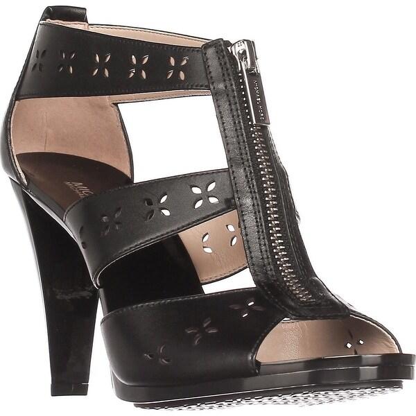 MICHAEL Michael Kors Berkley Floral T-Strap Sandals, Black