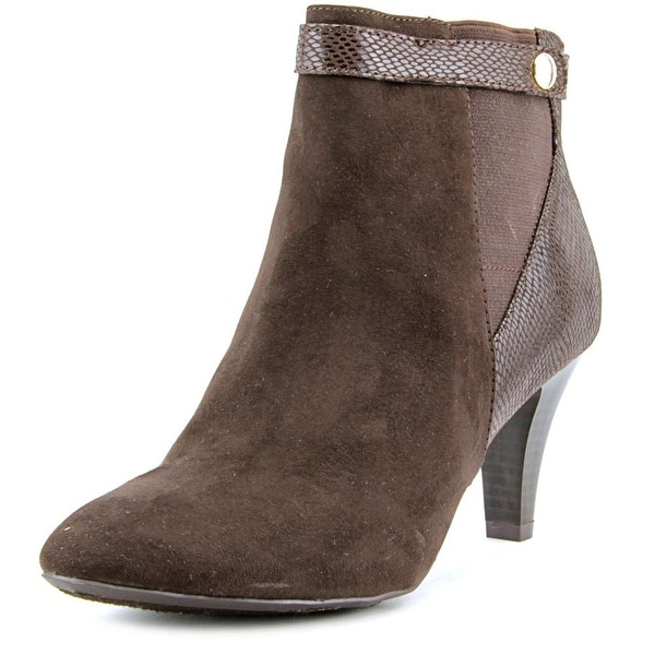 Karen Scott Marra Women Round Toe Synthetic Brown Ankle Boot