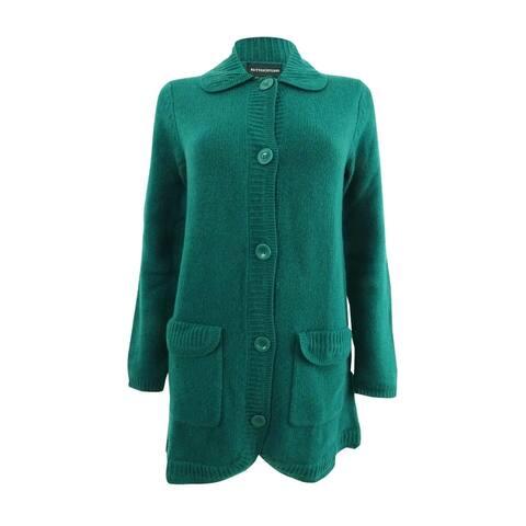 Sutton Studio Women's Button Sweatercoat Misses