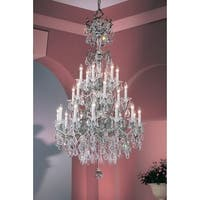 """Classic Lighting 57024-EP 62"""" Crystal Chandelier from the Via Venteo Collection"""