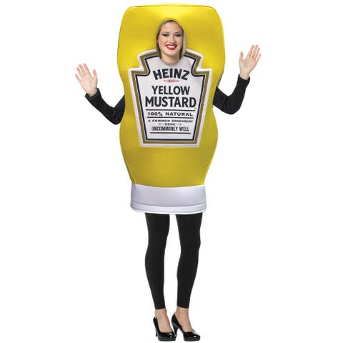 Rasta Imposta Heinz Mustard Squeeze Bottle Adult Costume - Yellow - One Size Fits Most