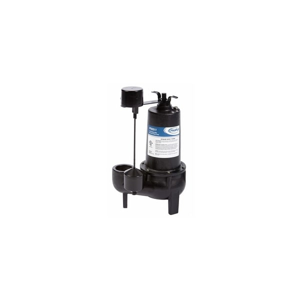 PROFLO PF93511 1/2 HP Cast Iron Sewage Pump with Vertical Switch