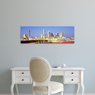 Easy Art Prints Panoramic Images's 'Dallas Texas USA' Premium Canvas Art