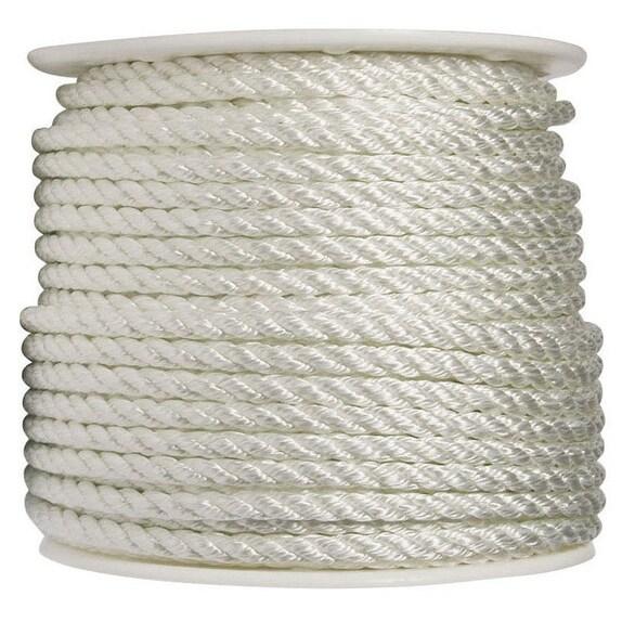 "Wellington N1832S0300S Twisted Nylon Rope Spool, 1/2"" x 300', White"
