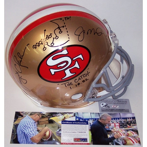 410c7da8c Shop Dwight Clark   Joe Montana Autographed Hand Signed San Francisco 49ers  Throwback Full Size Authentic Helmet - PSA DNA - Free Shipping Today -  Overstock ...