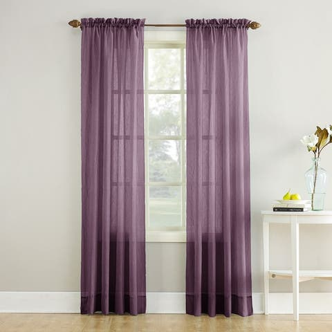 No. 918 Erica Sheer Crushed Voile Single Curtain Panel, Single Panel