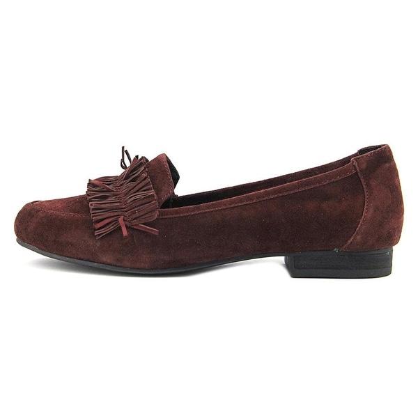 Adam Tucker Womens Marcela 14 Suede Closed Toe Loafers - 10