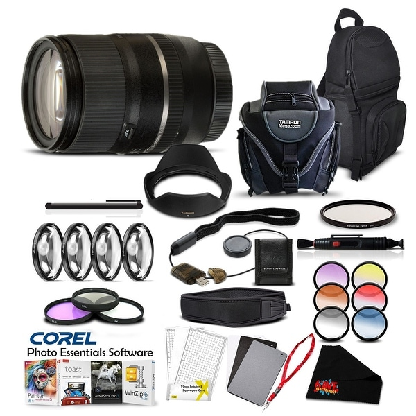Tamron 16-300 f/3.5-6.3 Di II VC Lens for Sony Pro Accessory Kit - Black
