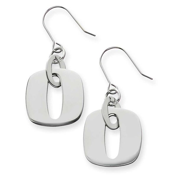 Chisel Stainless Steel Square Link Earrings