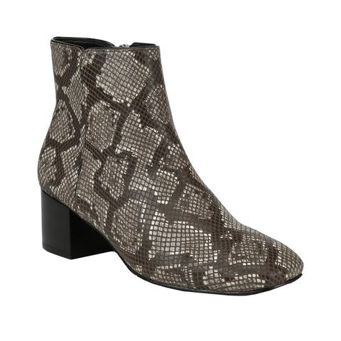 Donald Pliner Cyrus Python-Embossed Leather Bootie - FOG PYTHON PRINT
