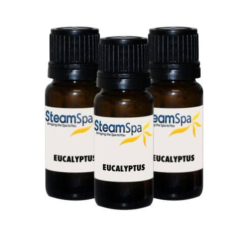 SteamSpa G-OILEUC3 Eucalyptus Aromatherapy Essential Oil for Steam - Natural