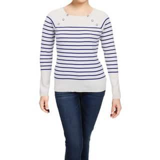 9bf006be892b1d Lauren Ralph Lauren Womens Crewneck Sweater Striped Long Sleeves