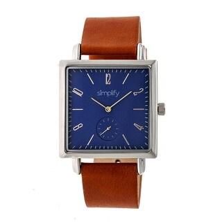 Simplify The 5000 Unisex Quartz Watch, Genuine Leather Band