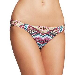 Becca by Rebecca Virtue Womens Hipster Printed Swim Bottom Separates