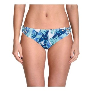 Raisins Womens Juniors Lucky Palms Macrame Cheeky Swim Bottom Separates
